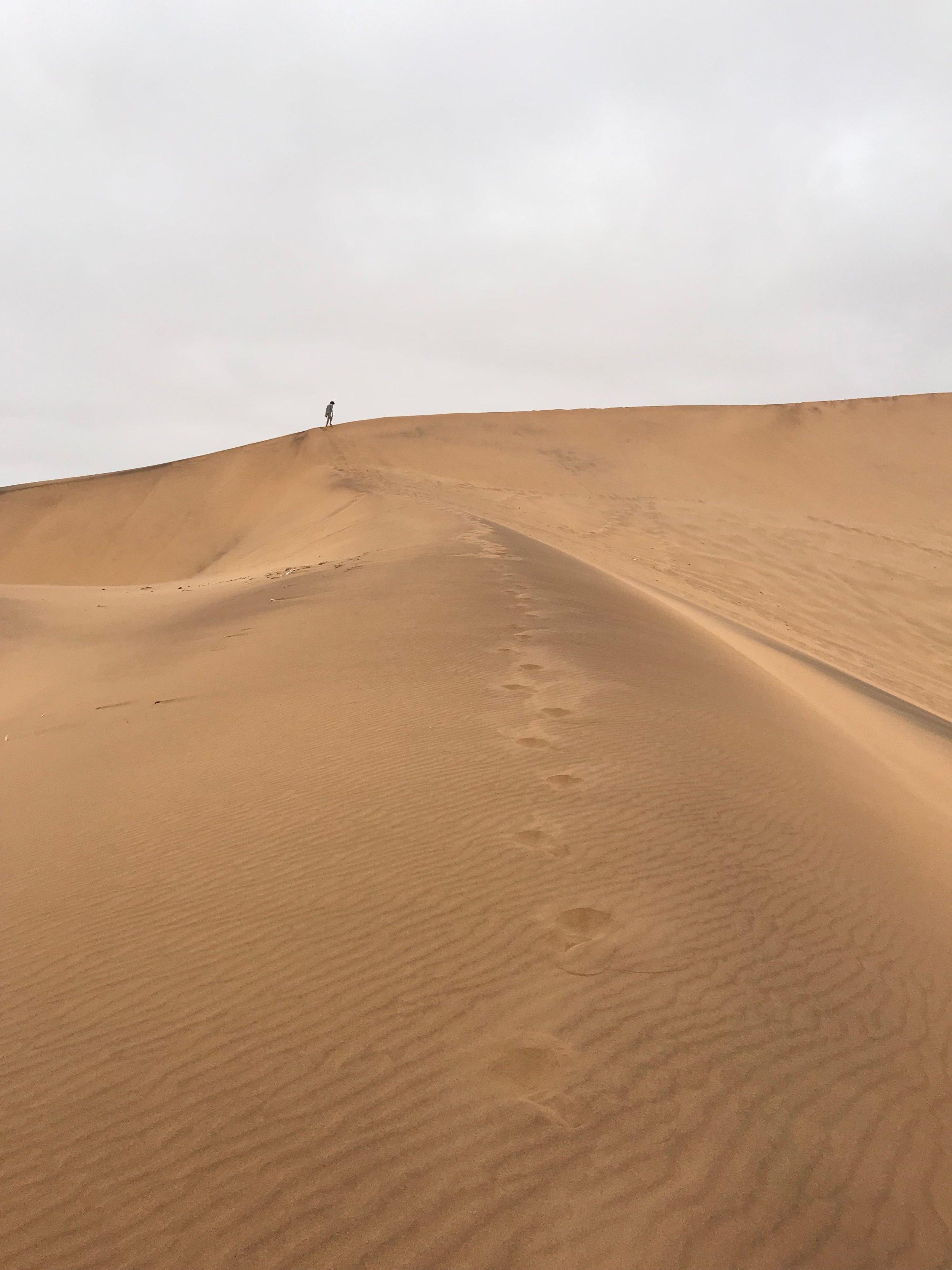 Big dunes; little people