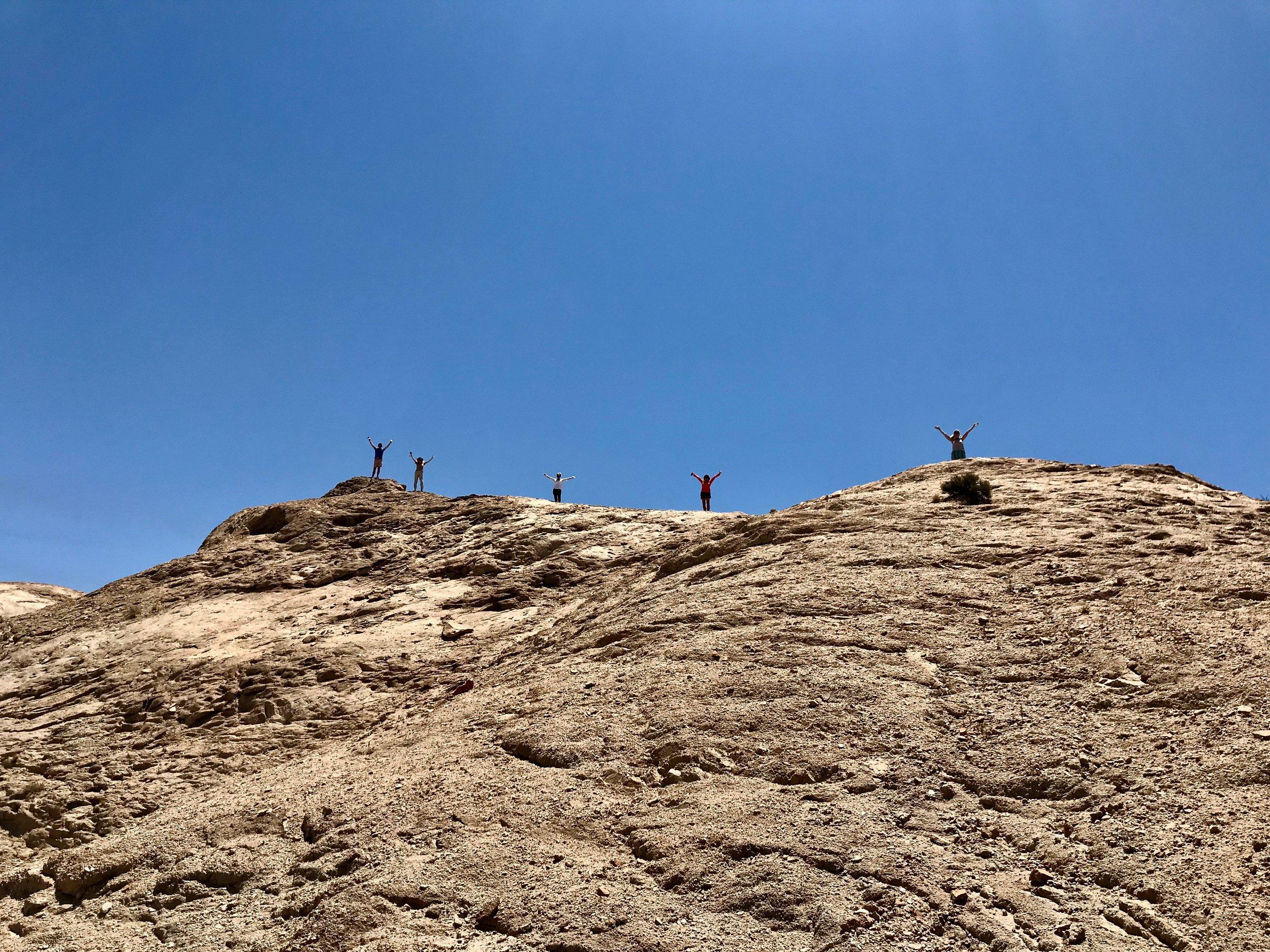 See a hill; must climb