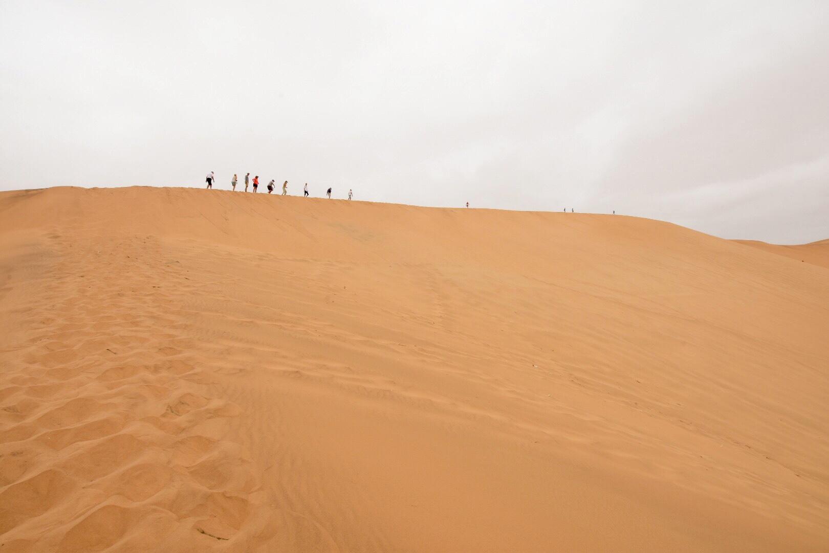 The crew up Dune 7!