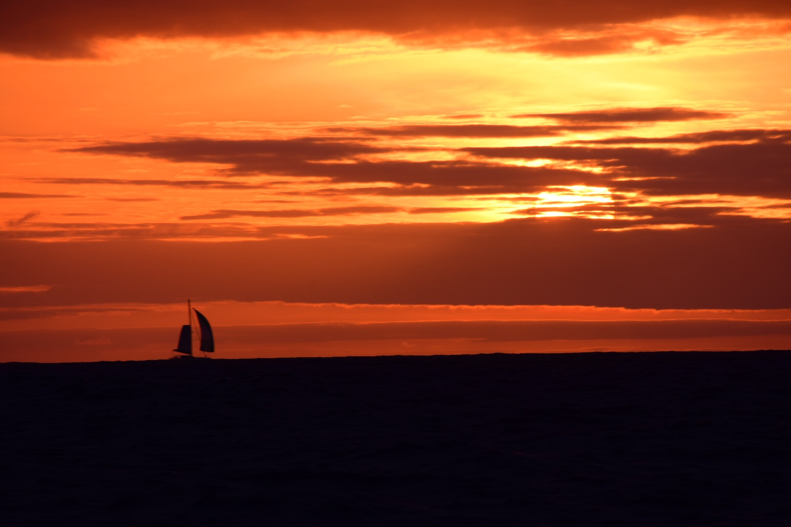 Cayuse sail into the sunset….
