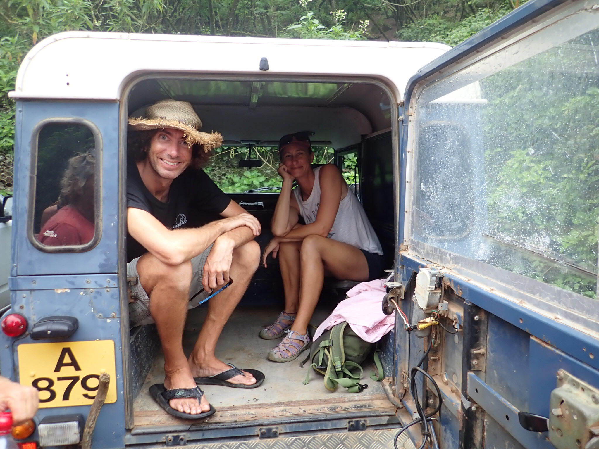 Helen & Martin in our transport!