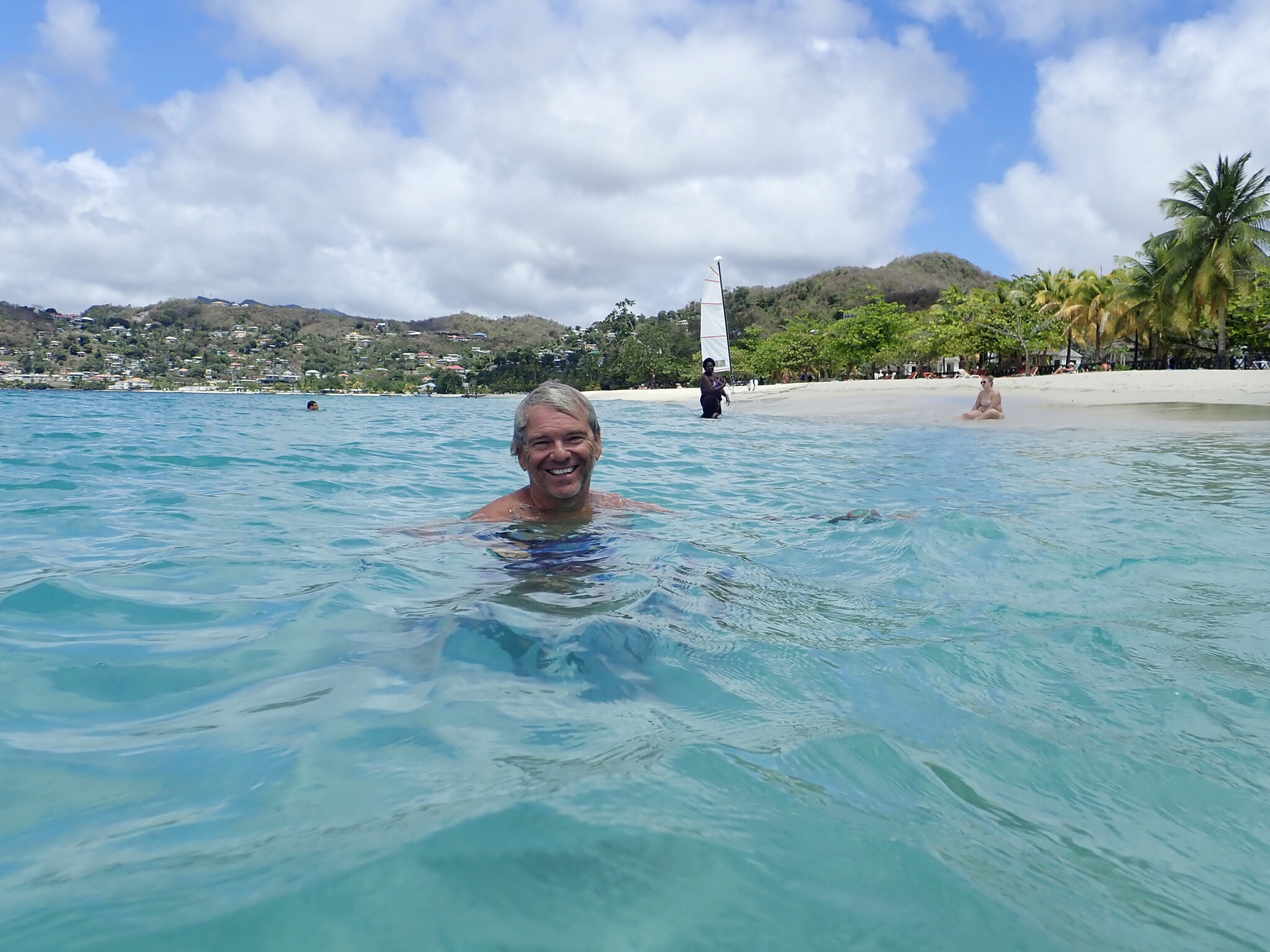 Caribbean swimming at last