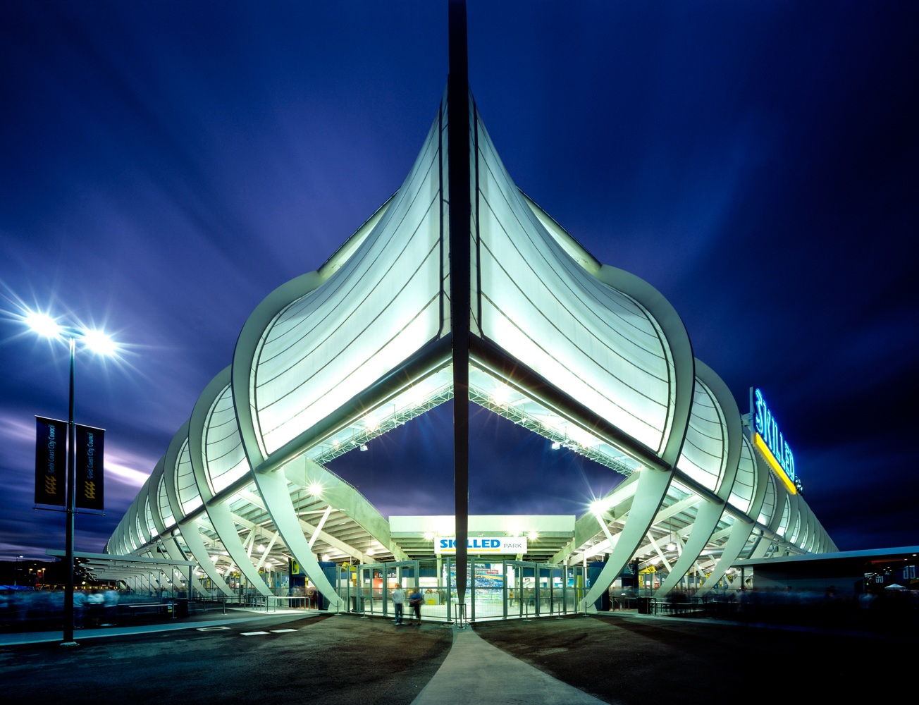 Night view main admission gates showing roof structureSP_078.jpg