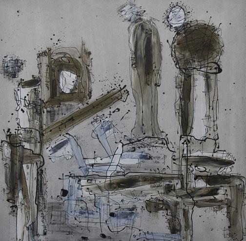 The follower  Buddha Series, 2008 Acrylic on canvas, 120 cm x 120 cm