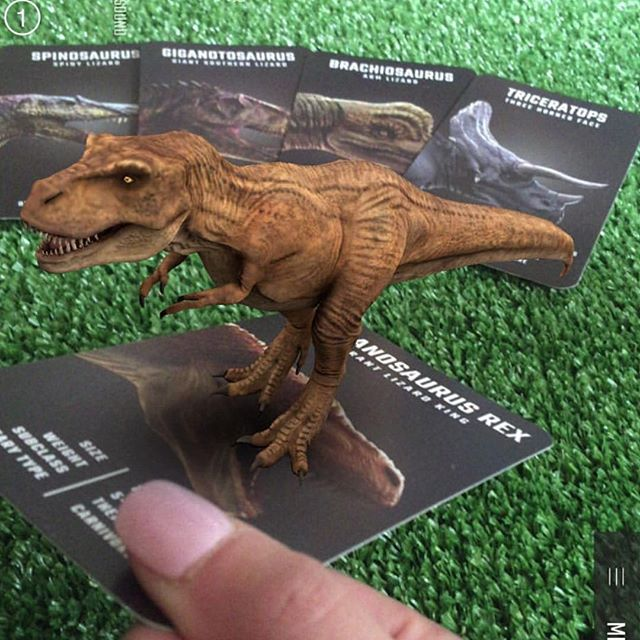 Guess what's back in stock in time for Christmas? In my own Jurassic world with the ferocious Mr T! The roars and movements of these dinosaurs are incredible but the best part is you  can also take them for a 'drive' around their card and control them while learning a few interesting facts, it's too cool! 😁👏 #dinosaur4d #dinosaurs #dinosaurcards #kidslearning #flashcards #augmentedrealitycards #kidsgames #travelgames #trex #ancientbeasts #teachingaids #educationalgames #christmas #educationalcards #kidsofinstagram #teaching #teachingaids #dinosaur #prehistoric #jurassicpark #jurassicworld #homeschooling #homeschool