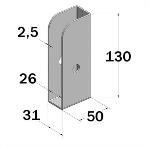 104101 - Einstecktasche Planspriegelprofil, Stahl