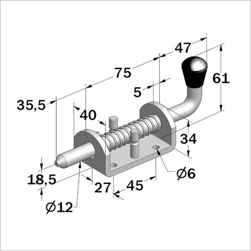 112910 - Federriegel, Stahl verzinkt