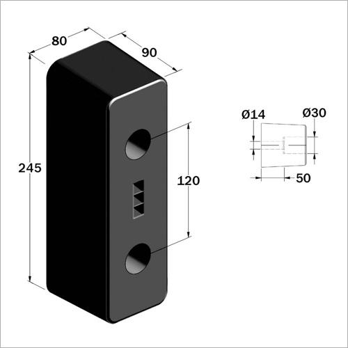 204500 - Gummipuffer 245*80*90 mm