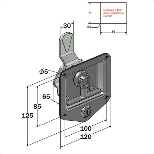 22701 - Punktschloss innenliegend, Schlüssel FS 880