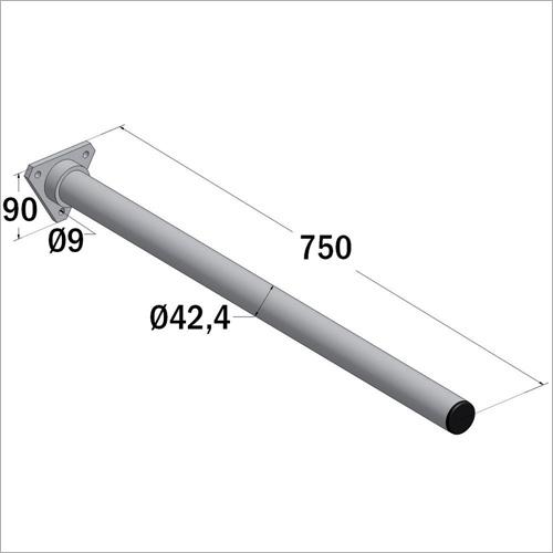 230000 - Halterohr aus Stahl verzinkt, zum anschrauben