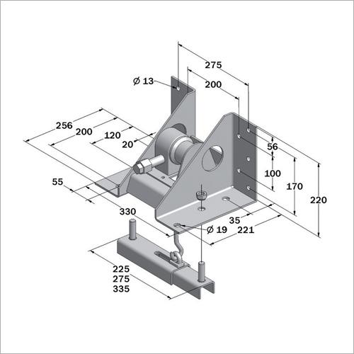 360090 - Reserveradhalter mit Winde