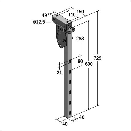 61015 - SSV Halter 690 mm NEU