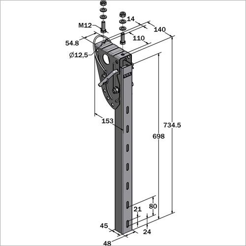 61030 - Halterung SSV 735 mm NEU