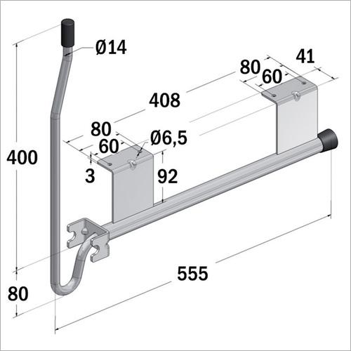 "66422 - Türfeststeller ""Krückstock"" 480 mm"