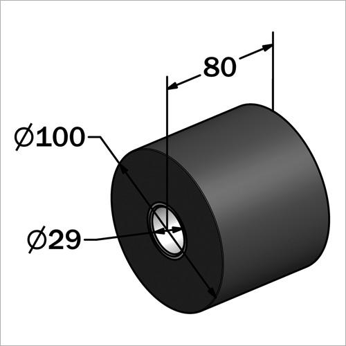 715140 - Ersatzgummirolle für Rampen Anfahrschutz
