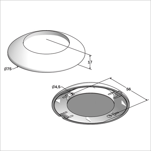 540404 -Deckenleuchte rund DM 7,5 cm, 12 LED