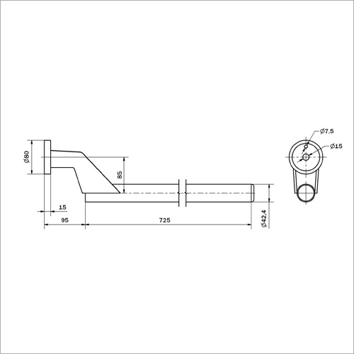 230003 - Halterohr für Kotflügel NEU 42mm Länge 820mm