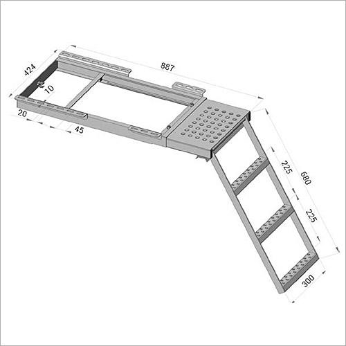 114650 - Ausziehbare Leiter, Podest +3Stufen