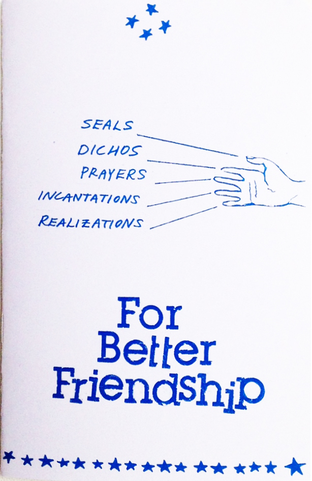 For Better Friendship Zine Curandera Press Library Divination