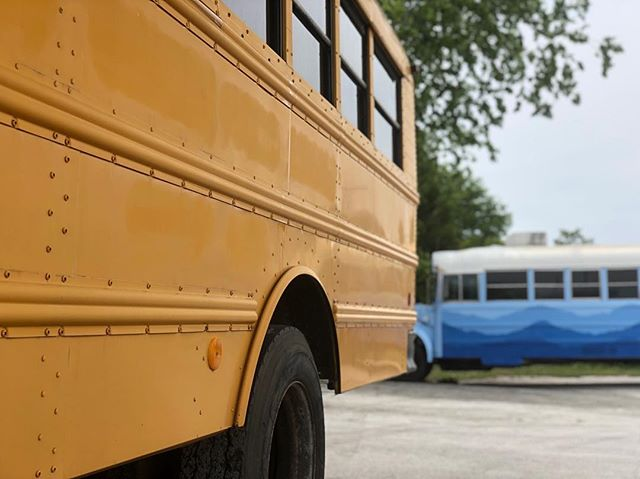 We interupt our @stokebus to help paint my kids after-school program's new #skoolie.  Happy to help, but am in no hurry to start another side business🤪
