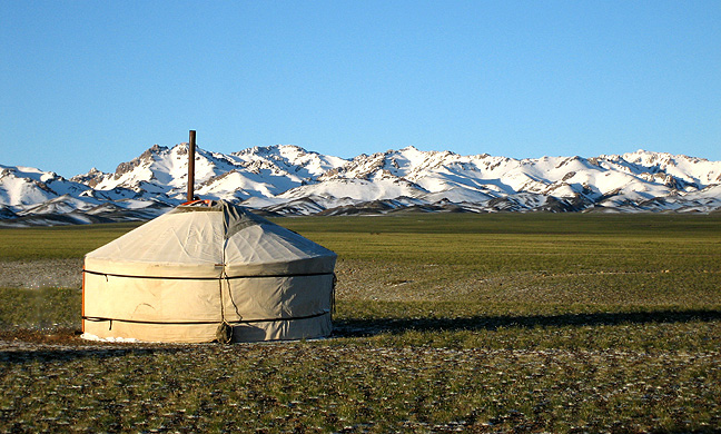Pictured: Traditional Mongolian Ger (Yurt)  Source:  Wikipedia