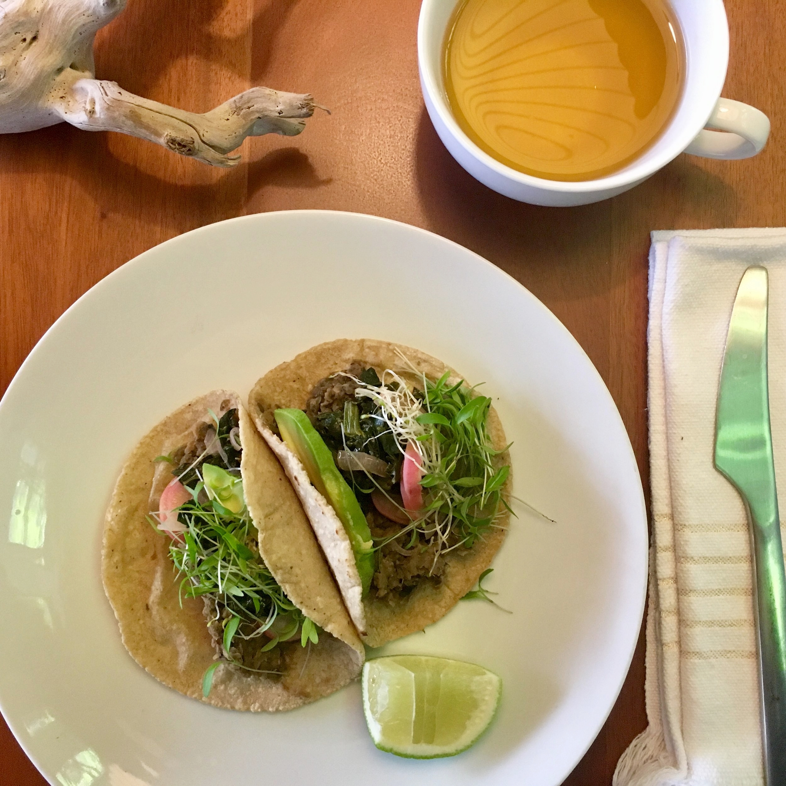 Spring Green & Mung Bean Tacos