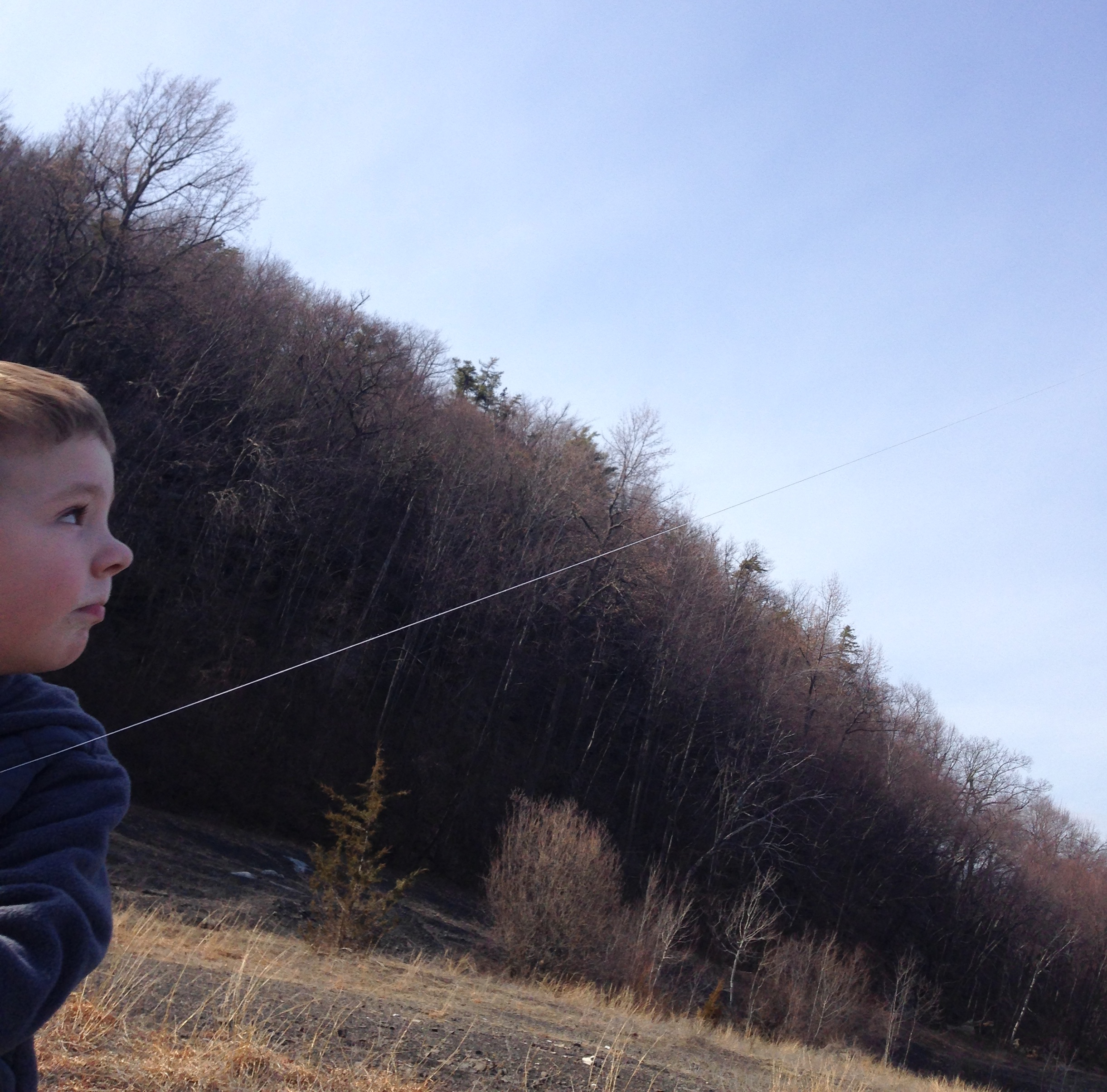 Finn Flying a kite