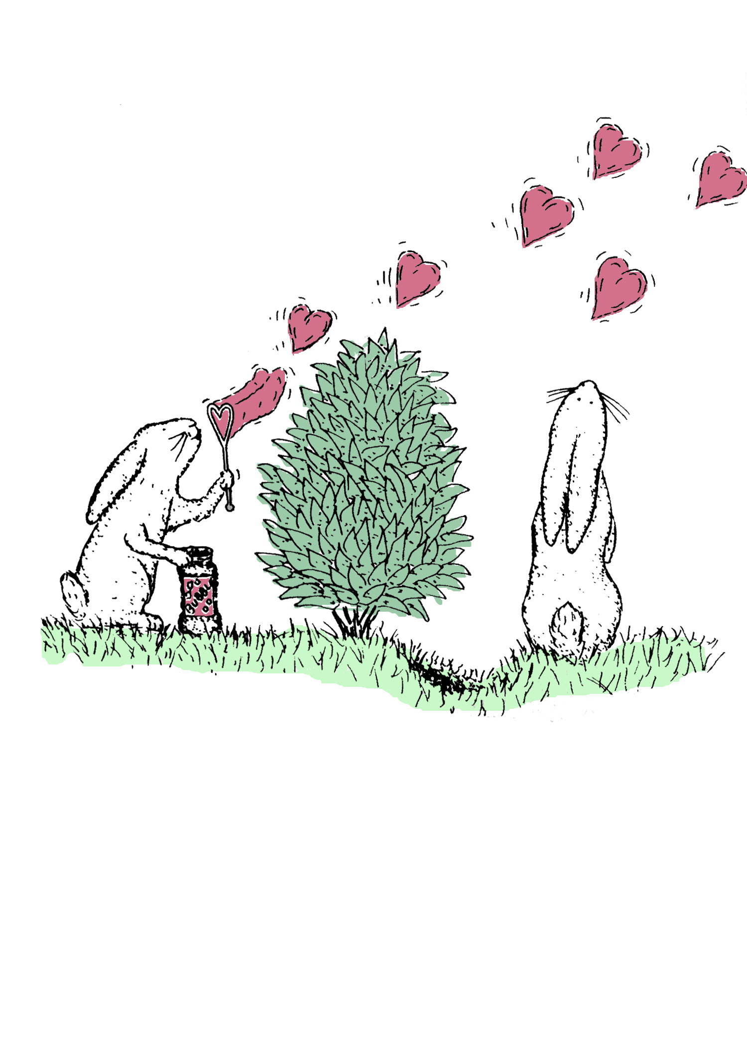 Bunny Bubbles by David DeWitt