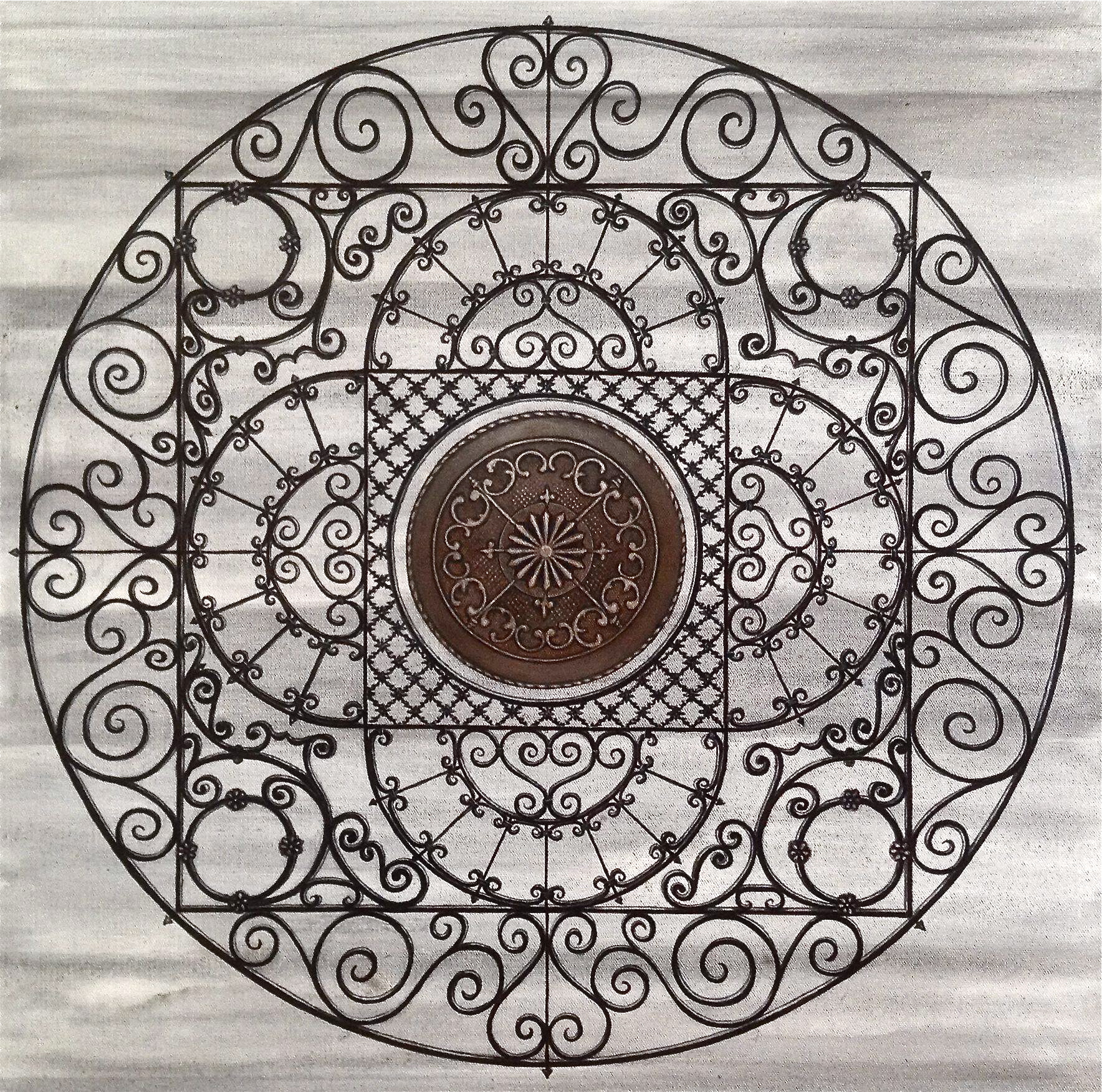 Iron Mandala, acrylic on canvas, by David DeWitt