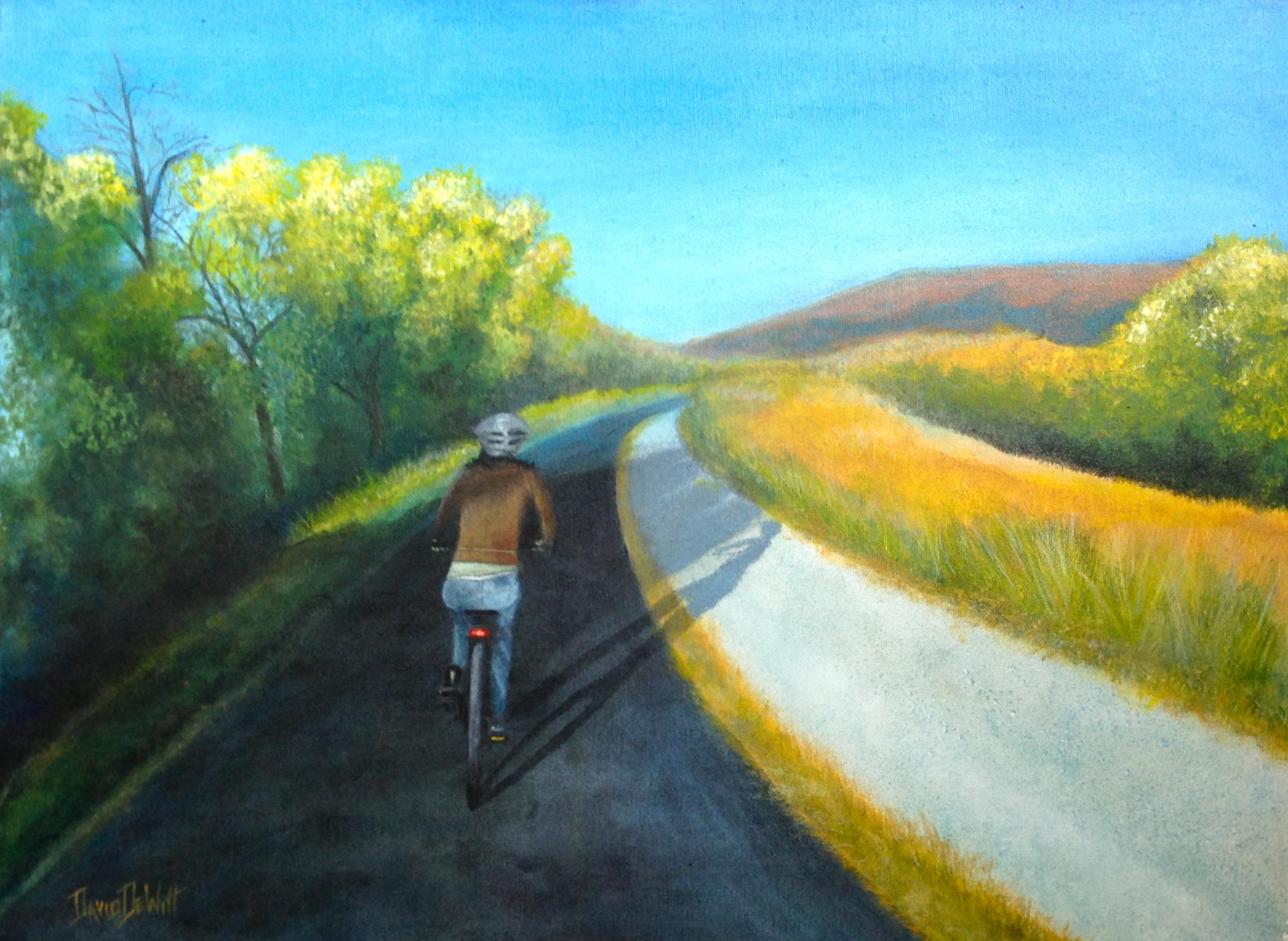 Biking by David DeWitt
