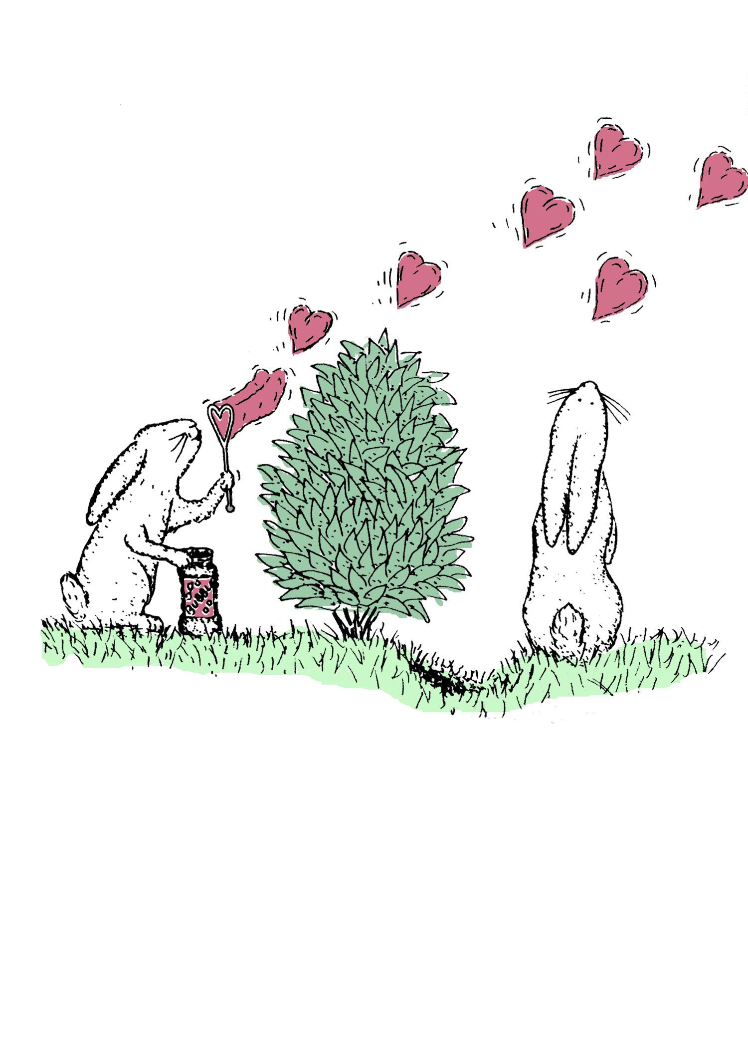 Bunny Bubbles, illustration by David DeWitt