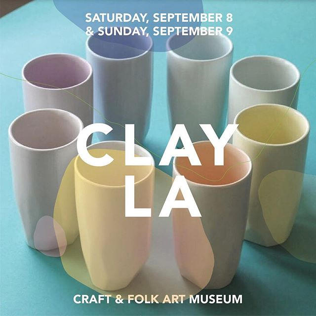 Hey party people, I'm super stoked to be part of this years #clayla at the @cafam this weekend. 🎉There will be 20 different artist there this weekend from 11:30-6, Saturday and Sunday. Come check it out and support Clay Craft in Los Angeles. . . .  #handmade #ceramics #clay #pottery #homegoods #homegoodshappy #homedecor #homegoodsfinds
