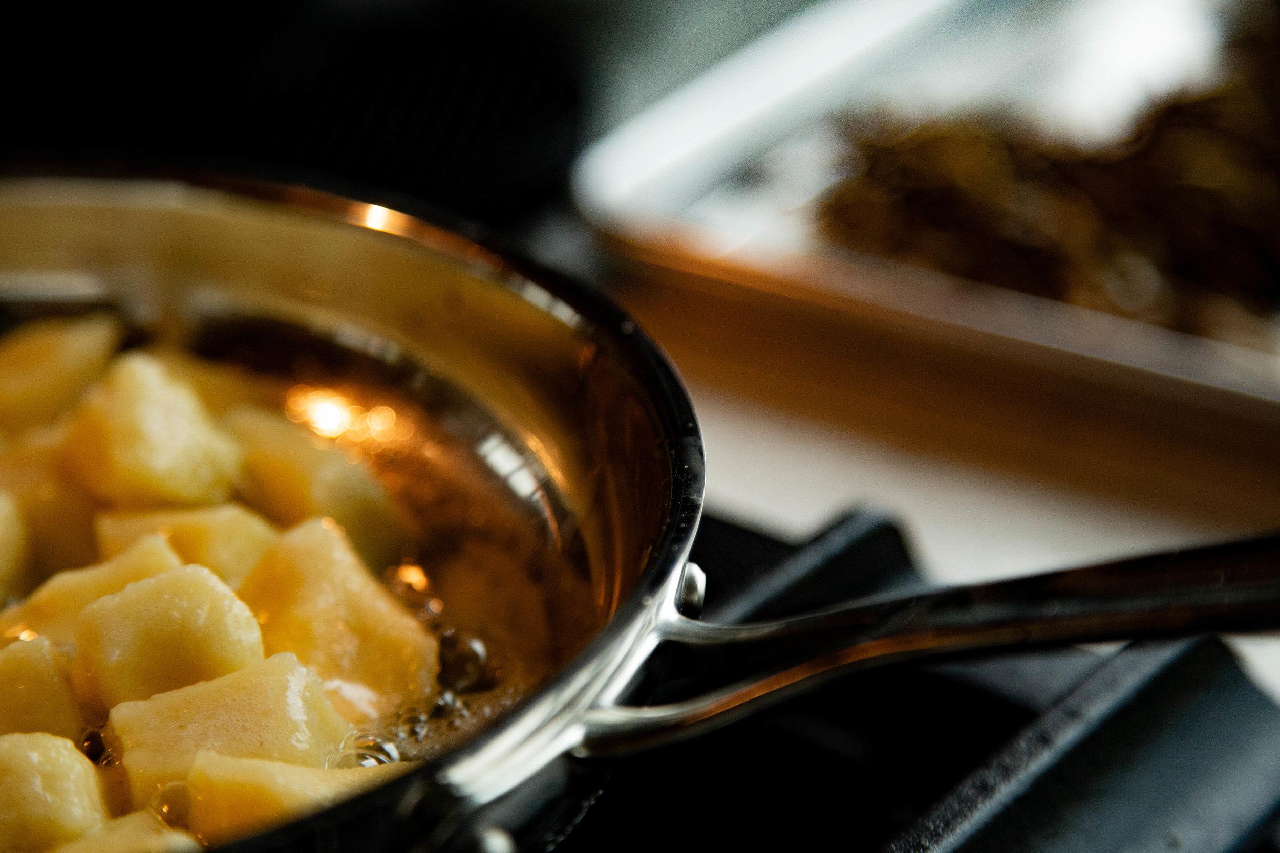 buttery crispy potato gnocchi