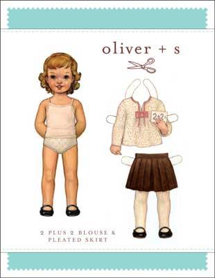 2 + 2 blouse + pleated skirt