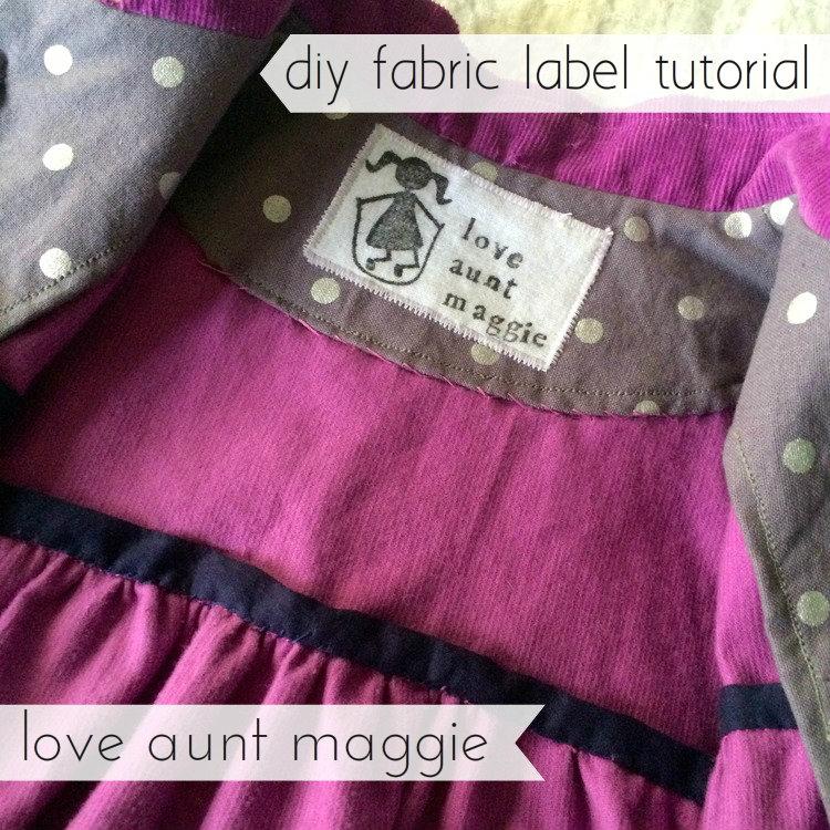 love aunt maggie | diy fabric label