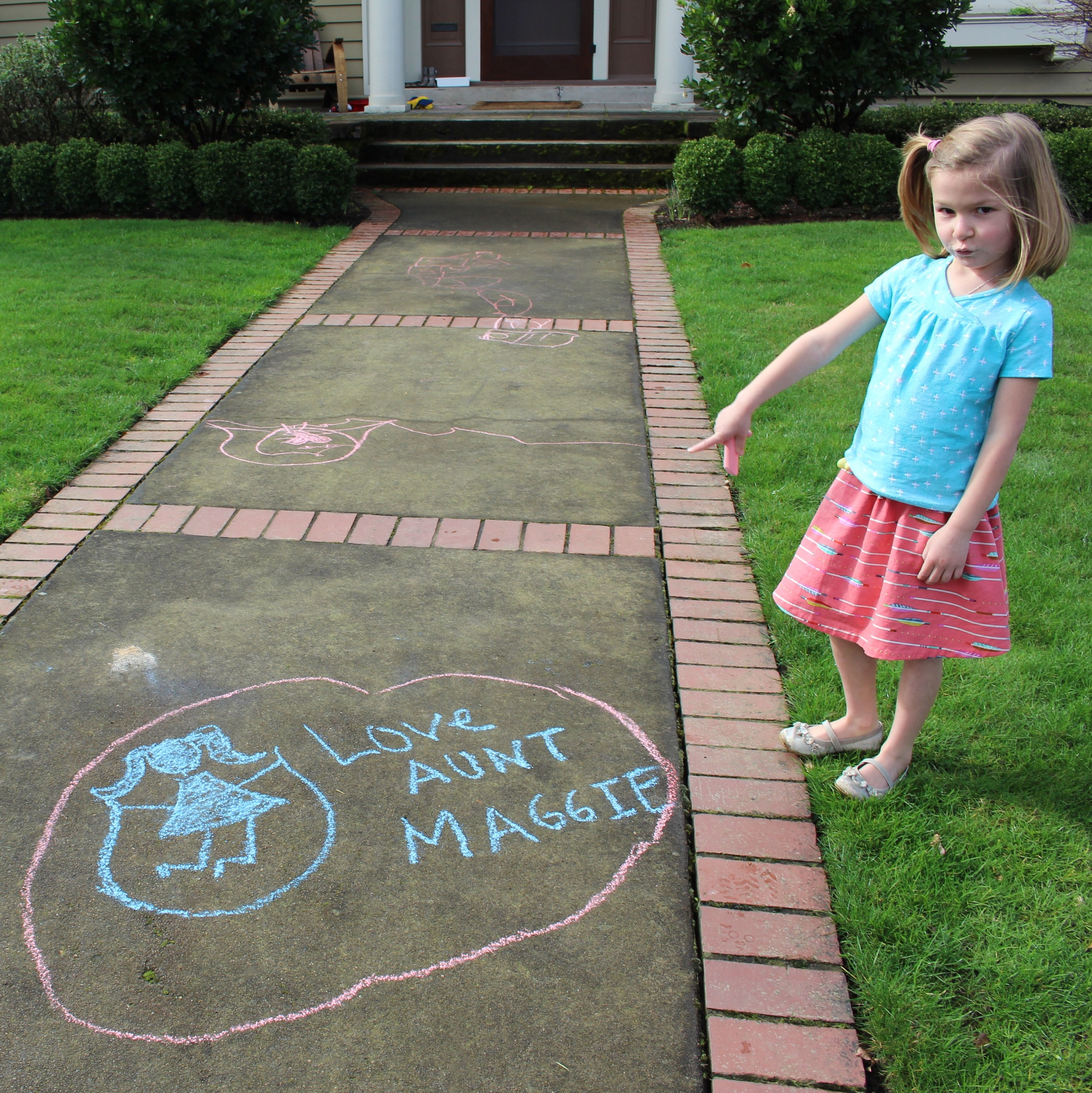 love aunt maggie | hopscotch shirt and swingset skirt