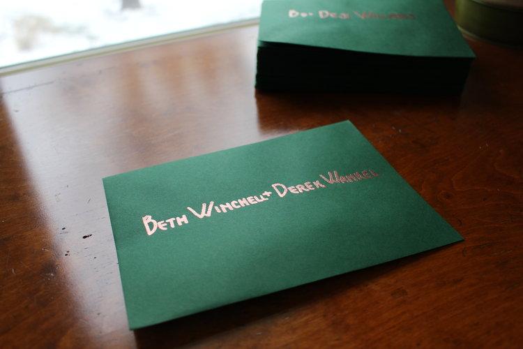 love aunt maggie   embossed wedding invitations