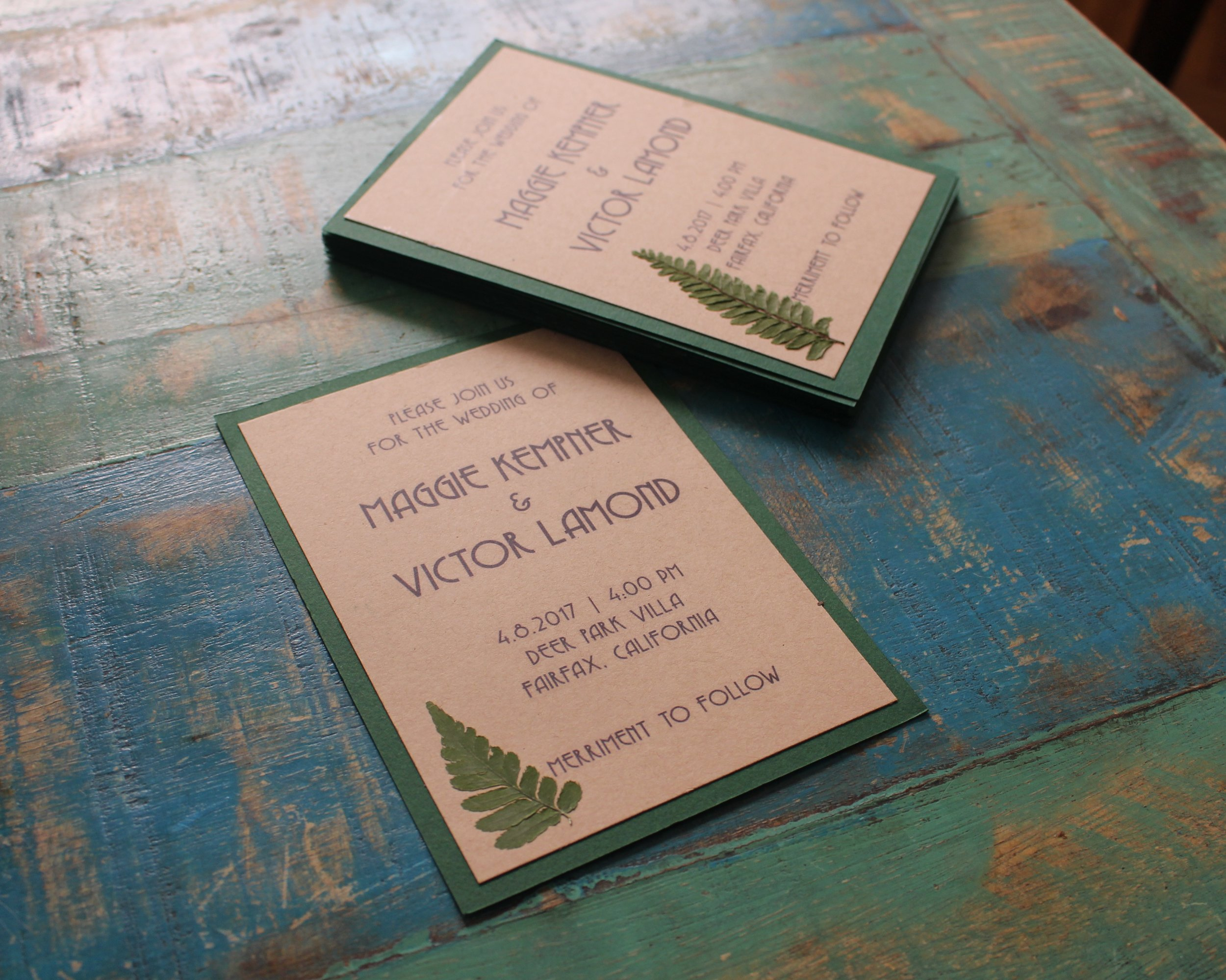 love aunt maggie | wedding invite