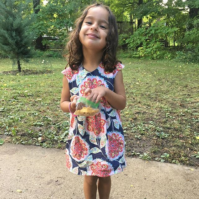 five years of weekly use by two little girls and this @oliverands #bubbledress #playtimedress mashup is still going strong! | fabric: @amybutlerdesign from @avfkw | #kidclothes #kidsewing #psimadethis #indiepatterns
