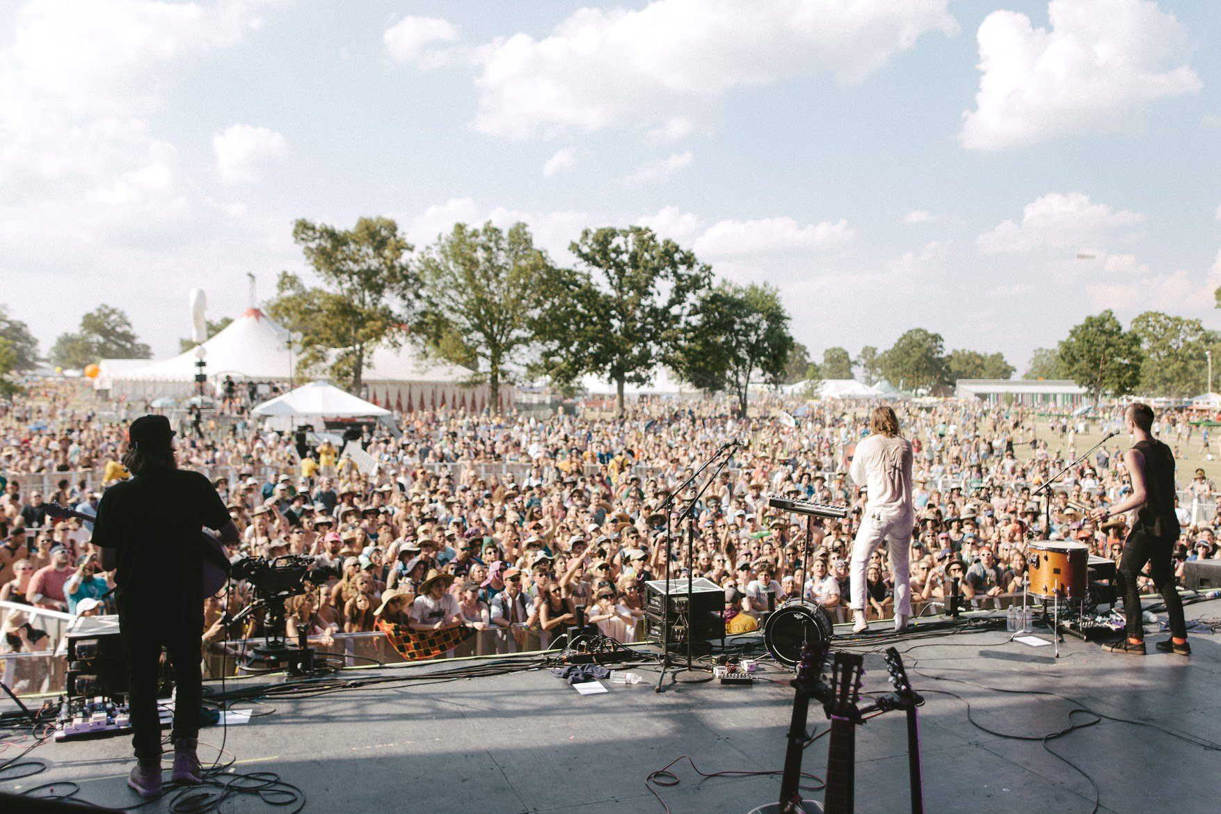 Judah & the Lion playing at Bonnaroo on June 11, 2016.