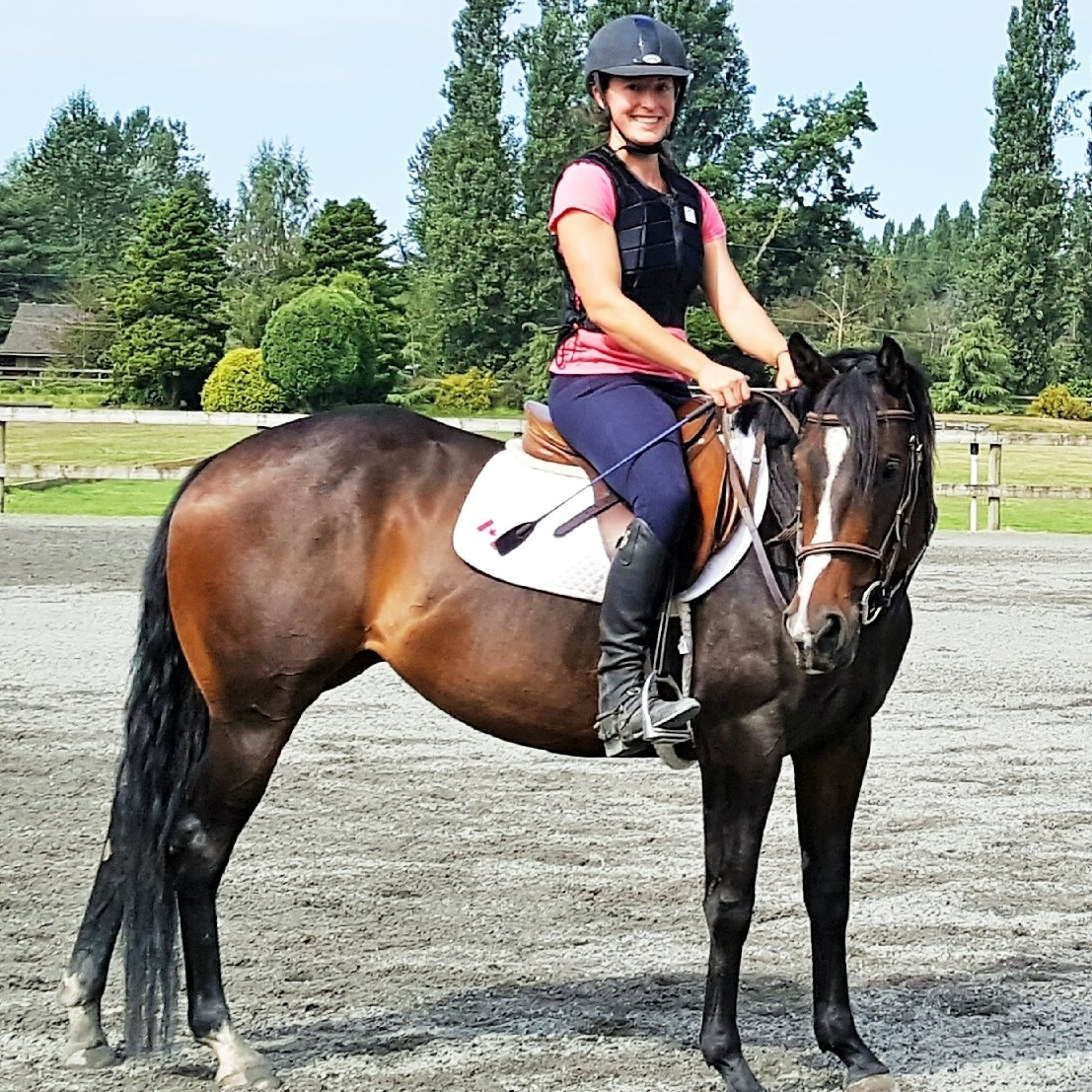 Paisley enjoying a lesson at the Club - August 2017