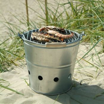 Galvanised Bucket Barbecue