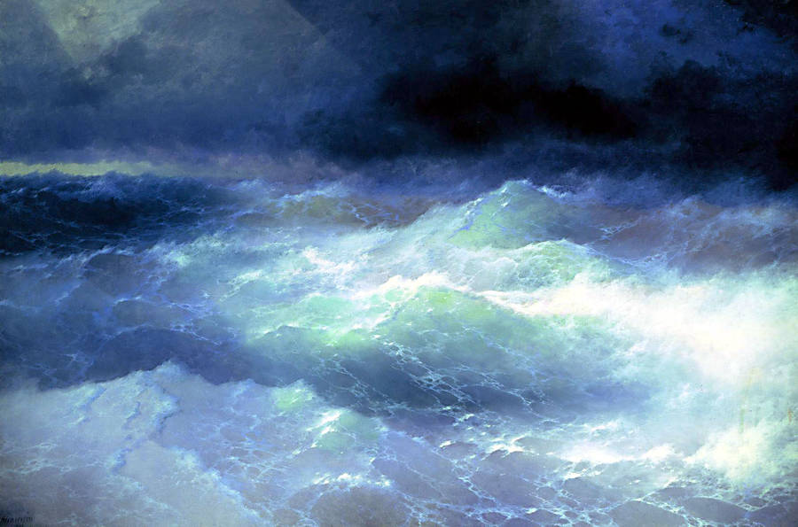 Amidst the waves, 1898, Ivan Aivazovsky
