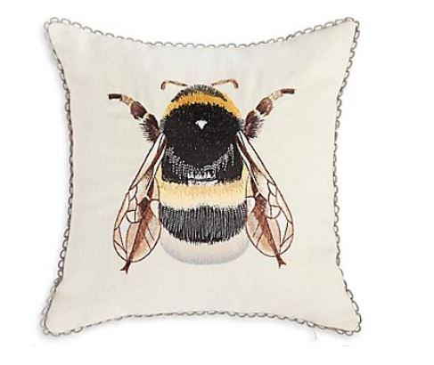 Bumblebee Embroidered Cushion Was €16 - 20% = €12.80 -  Click Here