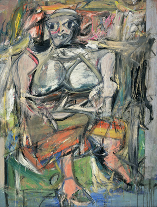 Willem de Kooning.  Woman, I . 1950–52.  Image Credit:  https://education.moma.org
