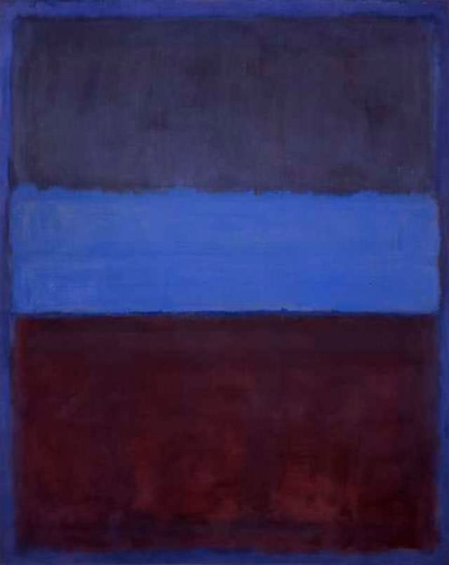 Rust and Blue (1953) by Mark Rothko  Image Credit:  https://www.mark-rothko.org