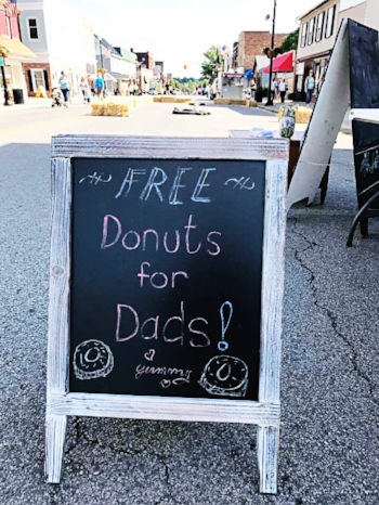 The Columbiana Chamber sponsored free donuts for dads in honor of Father's Day.