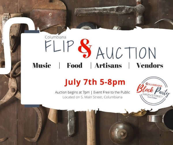 This month is designated to upcycles, handmades, antiques and junk! We will be hosting a Flea Market Flip competition on S. Main Street. If you are interested in participating please contact the Columbiana Chamber of Commerce at 330-482-3822. More details below: