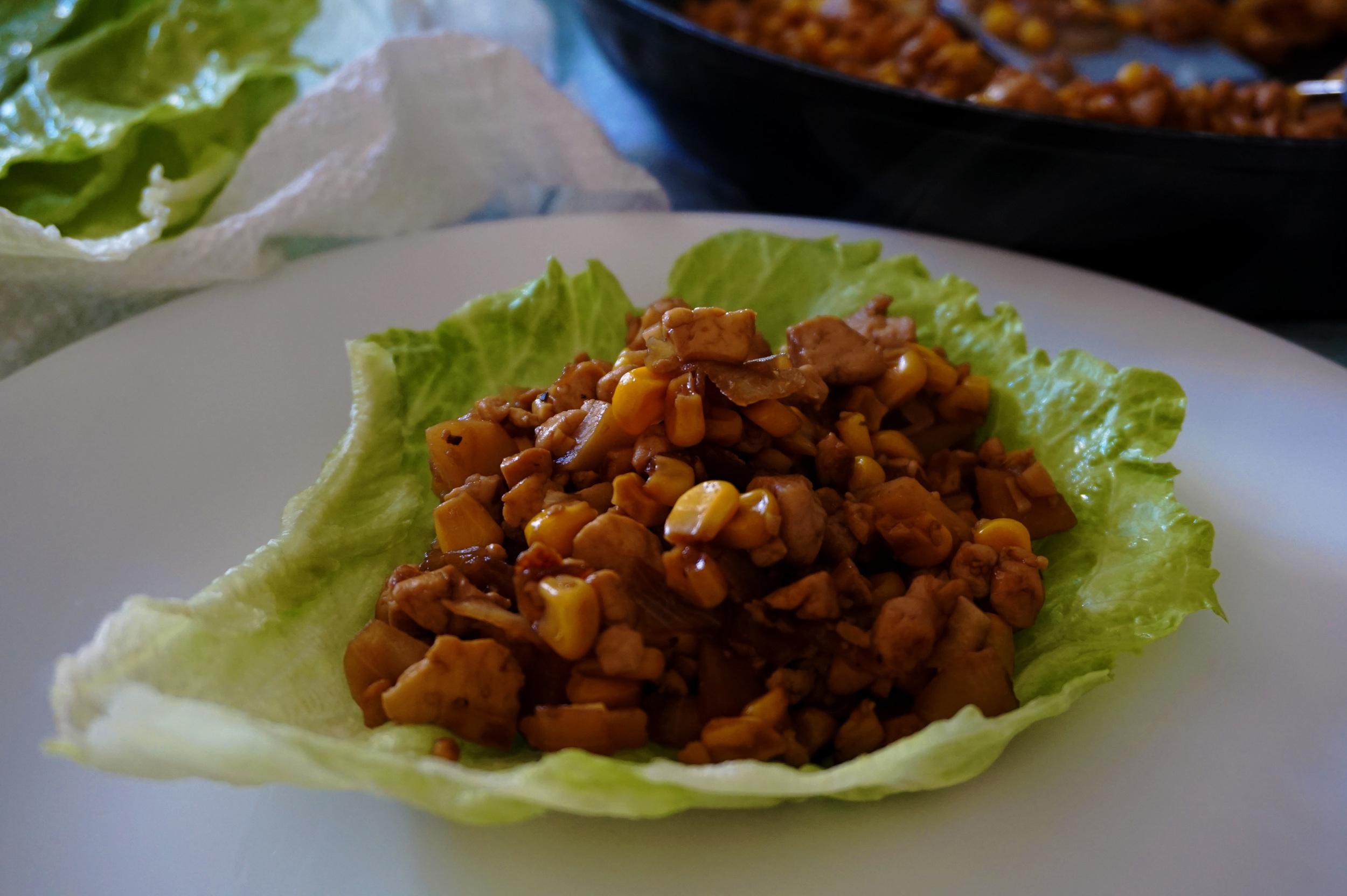 Vegetarian Asian-Style Lettuce Wraps