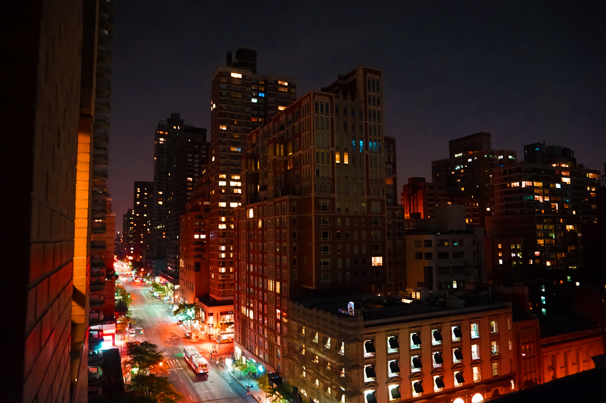 Lexington Avenue at night